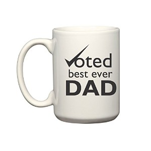 Voted Best Ever Dadマグカップ| 11オンス100 %セラミックマグカップ|コーヒーマグ&カップ – Inspirational gifts for Dadsと父Figures