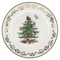 Spode Christmas Tree Gold Round Platter 12inch by Spode
