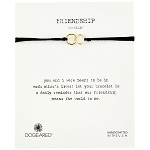 Dogearedモダン手首Friendship double-linkedリング留め調節可能なビーズブレスレット One Size