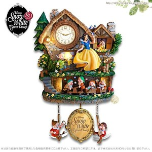白雪姫と7人の小人 壁時計 鳩時計 ディズニー Disney Snow White Illuminated Musical Wall Clock With Motion □