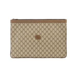GUCCI PRE-OWNED GG モノグラム クラッチバッグ - ブラウン