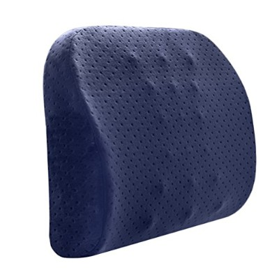 Zhhlinyuan 4 Colors Home Office Chair Car Seat Lumbar Back Support Memory Foam Cushion Comfort...