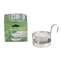 HIC Loose Leaf Tip Tea Strainer with Built-In Drip Tray, 18/8 Stainless Steel Mesh, 2-Inch by HIC...
