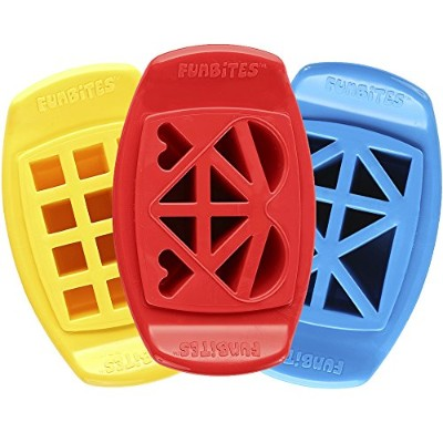 FunBites Food Cutter Set, Yellow Squares/Red Heart/Blue Triangles by FunBites
