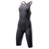 TYR(ティア) TYR ティア レディース競泳スパッツ水着 TPSFO6A GY/RD TPSFO6A GY/RD M