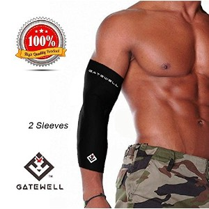GATEWELL Turbo Series Arm Sleeves (1 Pair) Compression For Sports, Fitness, Muscle Soreness,...
