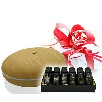 Aromatherapy Diffuser with Essential Oil Gift Set - Bundle with Smiley Daisy Best Ultrasonic...