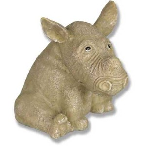 Xoticbrands osfd17013 Zoe the Rhino 4 Garden動物Statue