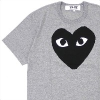 PLAY COMME des GARCONS(プレイ コムデギャルソン) BLACK HEART TEE (Tシャツ) GRAY 200-007718-052x【新品】