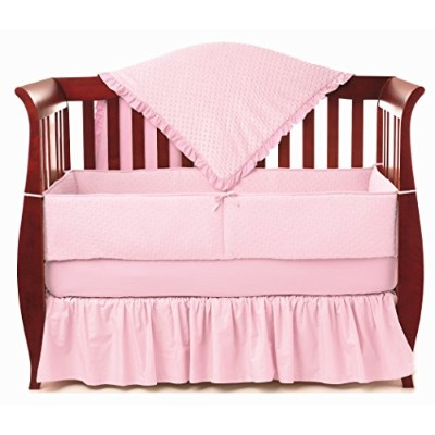 American Baby Company Heavenly Soft Minky Dot 4-Piece Crib Bedding Set, Pink by American Baby...