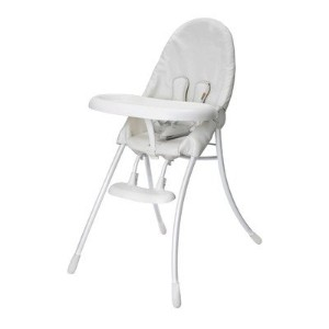 Bloom Nano Urban Highchair - White Frame & White Seat by bloom
