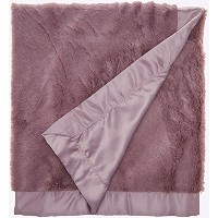 Lambs & Ivy Signature Oversized Minky Stroller Blanket, Mauve by Lambs & Ivy