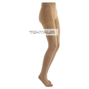 Tektrum Waist High Firm Graduated Compression Pantyhose Medical Stockings 23-32mmhg for Men and...