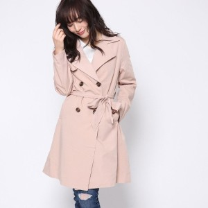 【SALE 45%OFF】ルーミィーズ  Roomy's OUTLET TRツイルベーシックトレンチCT (ピンク)