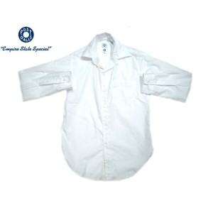 POST OVERALLS(ポストオーバーオールズ)/#2212 THE POST3 COTTON BROADCLOTH SHIRTS/white