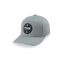 Ping (ピン) Men's Golf Cap メンズゴルフキャップ (Patch Cap, Structured Adjustable) (FREE, Patch Cap, Grey)