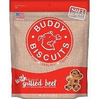 Cloud Star Soft & Chewy Buddy Biscuits Dog Treats, Grilled Beef , 6-Ounce Pouches by Cloud Star