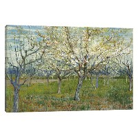 """iCanvasART The Pink Orchard by Vincent Van Goghキャンバス印刷 Wrapped Canvas (1.5"""" deep) 26""""x18"""" 14412..."""