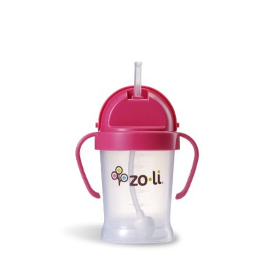 Zoli Bot Sippy Cup Gobelet Avec Paille - Rose