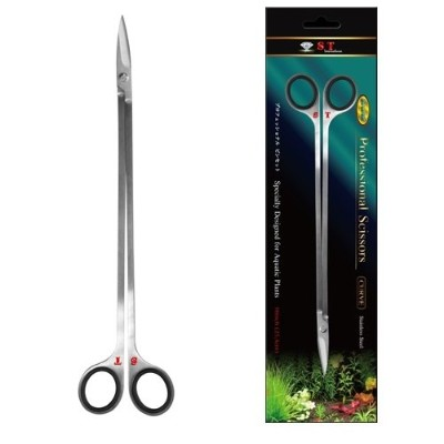 S.T. International Stainless Steel Curved Aquatic Plant Scissors, 10-Inch by S.T. International