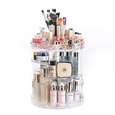 DreamGenius Makeup Organiser 360-Degree Rotating Adjustable Multi-Function Acrylic Cosmetic Storage