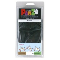 Pawz Black Water-Proof Dog Boots, Medium, Up to 3-Inches by Pawz Water Proof Dog Boots Black Medium...