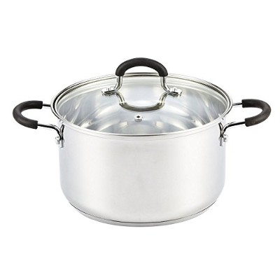 High Quality Stainless Steel Stockpot With Lid, 5 Quart, Silver