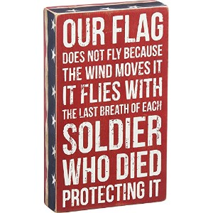 High Quality Our Flag Box Sign