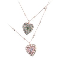 Amaro Jewelry Studio 'Harmony' Collection 24K Rose Gold Plated Feminine Chain with Heart Pendant...