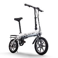 Foldable Bicycle 折りたたみ電動自転車 電動アシスト自転車 14インチ 618 公道で走ることができます(海外メーカー直送品) (ホワイト)