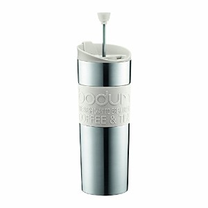 High Quality Insulated Stainless-Steel Travel French Press Coffee and Tea Mug, 0.45-Liter, 15-Ounce...