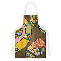High Quality Danny Ivan Cosmic Aztec Artistic Apron, 31 by 35.75, Multicolor