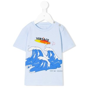 Young Versace プリントTシャツ - ブルー