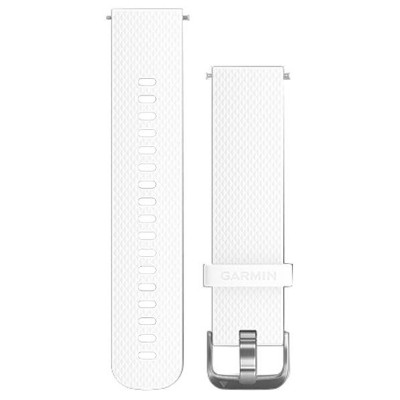 GARMIN 交換用バンド 20mm Quick Release White stainless 010-12561-24 [0101256124]