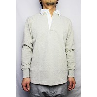BARBARIAN (バーバリアン)/ RUGBY JERSEY L/S (DFS-03) ASH (XL)