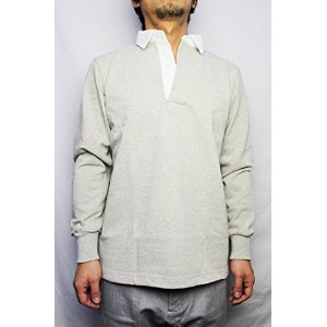BARBARIAN (バーバリアン)/ RUGBY JERSEY L/S (DFS-03) ASH (M)