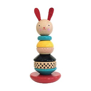 High Quality Rabbit Wood Stacking Toy