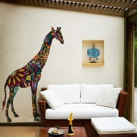 My Wonderful Walls Giraffe Wall Sticker Decal for Wall Decor, Right-Facing, Large, Multicolored by...
