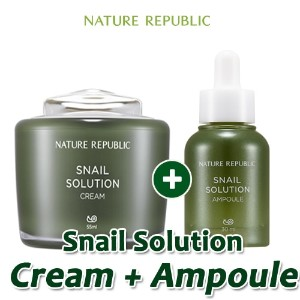 [NATURE REPUBLIC]カタツムリソリューションクリームクリーム+アンプル(Snail Solution special Cream+Ampoule)/ネイチャーリパブリック/韓国コスメ