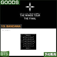 13. BANDANA / 2017 BTS THE WINGS TOUR THE FINAL GOODS/即日発送/送料無料