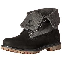 Timberland Womens Timberland Auth Canvas FD Boot  Black Nubuck/Grey Canvas  7 M US