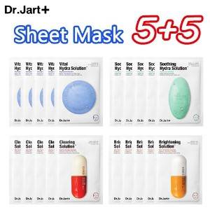 [Dr.jart] Maskpack / Deep Hydration Sheet Mask / Ultra-Fine Microfiber Sheet Mask / 4種 5セット / 5+5