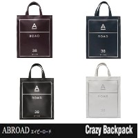 【ABROAD正規品】エービーロード Eco Leather 2WAY Bag (Wine Navy lvory Black)