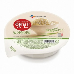 [5packs] CJ Cooked Germinated Brown Rice 210g / 297 kcal / fast cooked / instant rice / korean food