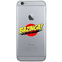 【(iPhone 6 Plus-Bazinga-Silicone Case) ROXX iPhone 6/6s Plus (5.5) Big Bang Theory Clear Silicone...