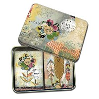 "【Lang Playing Cards 2 Decks in Decorative Tin "" Growワイルド、アートワーク"" by Kelly Rae Roberts】 n b01k3ugm8a"