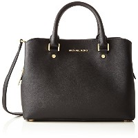 マイケルコース ショルダーバッグ Savannah Medium Saffiano Leather Satchel(Black) MICHAEL KORS【並行輸入品】