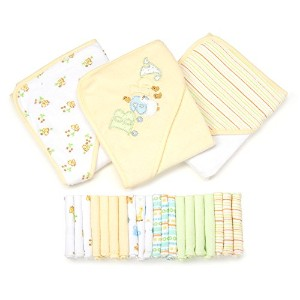 Spasilk 23-Piece Essential Baby Bath Gift Set, Yellow by Spasilk