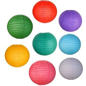 JustアーティファクトAssorted Paper Lanterns (異なるカラー&サイズ提灯) 16inch AMZ-RPL8-16ASSORTED
