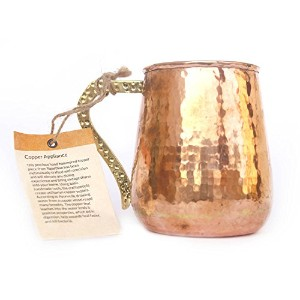 De kulture WorksハンドメイドPure Copper Mug Moscow Muleのセット2–500ml for Drinking /バー/ホテル/ Clubs Ideal...
